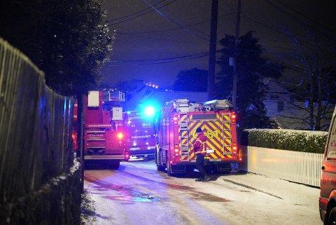 PIPEBRANN: Det ble meldt om pipebrann i Solveien tirsdag kveld.