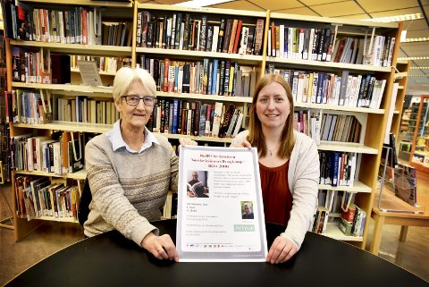 Markering: Leder Inga Norderhus i Nei til EU og biblioteksjef May Britt Josten.