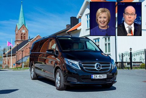 IKKE BILLIG: Bilen på bildet koster 1,2 millioner kroner, og skal brukes til såkalt VIP-transport i Tromsø. Stein Sørensen persontransport planlegger kjøpt av ytterligere en luksusbil, og merker økende etterspørsel på denne typen tjenester.