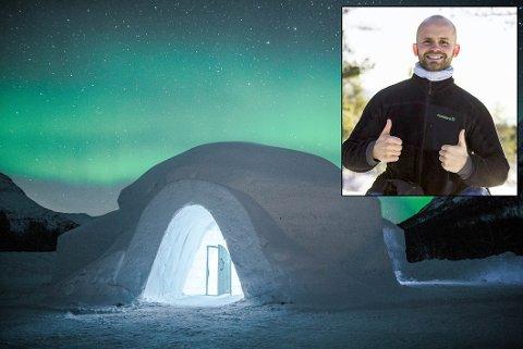 ISHOTELL: Eirik Tannvik åpner endelig ishotellet i Tamokdalen.