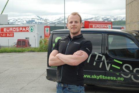 STORESLEM: Mats Ola Martinsen åpner Sky Fitness sitt tredje senter i Tromsø.