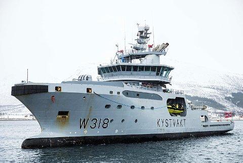 OPPBRAKTE TRÅLER: KV Harstad oppbrakte lørdag en portugisisk tråler etter mistanke om overfiske i norsk økonomisk sone. Illustrasjonsfoto.