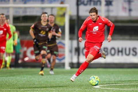 TIL-AKTUELL: Erlend Hustad (23) spiller for Brann i 2020. Han er en av flere spisser som TIL vurderer foran returen til eliteserien neste sesong.