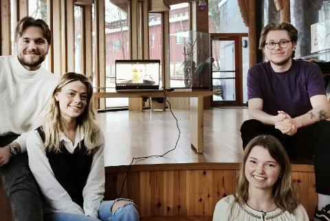 Fra venstre: Andreas Bugge (23), Marthe Håkonsen (22), Miriam Kiil (25) og Johannes Torgersen (22).