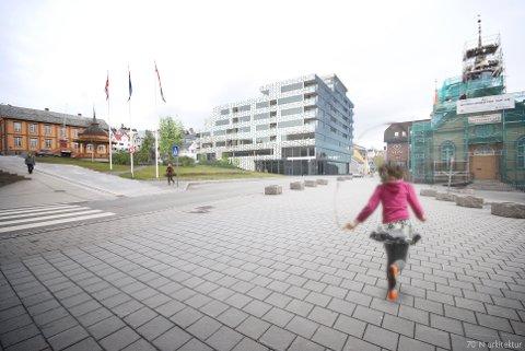 JUSTERT KVARTAL: Planene for utbygging av Nordlyskvartalet er justert med inntrukne etasjer.