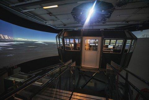 SIMULATOR: Den dag i dag har universitetet i Tromsø både fly- og skipssimulatorer.