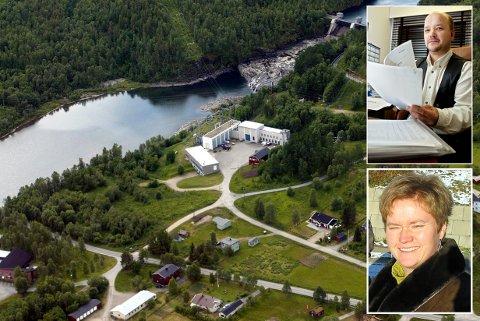 TAPER SKATT: Troms Kraft sitt kraftverk ved Bardufossen på Fossmoen. Slike kraftverk har gitt gode skatteinntekter til kommunen. Men nå må blant andre Trond-Roger Larsen og Hege Walør Fagertun kutte i budsjettene.