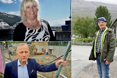 UTTALER SEG: Kari-Anne Opsal, Rolleiv Lind og Knut Jentoft har meninger om hvordan milliardverdiene i Troms Kraft bør fordeles.