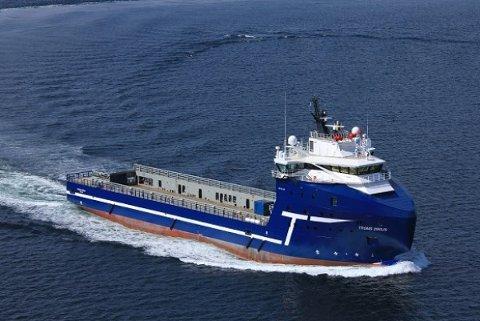 TIL CANADA: Troms Sirius er hentet til Canada av morselskapet Tidewater, som leier det ut til en prøveboring i regi av Shell.