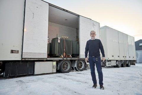 RAMMES AV KORONAKRISEN: Daglig leder Rune Evjen måtte torsdag gå til det skritt å permittere fire av bedriftens ansatte på grunn av nedgang i ordretilgangen.