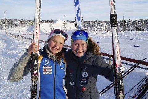 Seier: Søstrene Hedda og Tuva Bakkmo vant hver sin klasse.