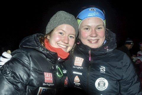 Tuva Bakkemo (t.v.) og Dorthe Ballangrud Seierstad sørget for at Norge fikk en kjempestart på den nordiske juniorlandskampen på ski. Arkivbilde
