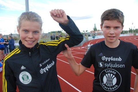 IMPONERTE IGJEN: Malin Hoelsveen løp inn til årsrekord, kretsrekord og tidenes fjerde beste 1500-metertid i 15-årsklassen. Tvillingbror Mathias perset med 11 sekunder på 3000 meter.
