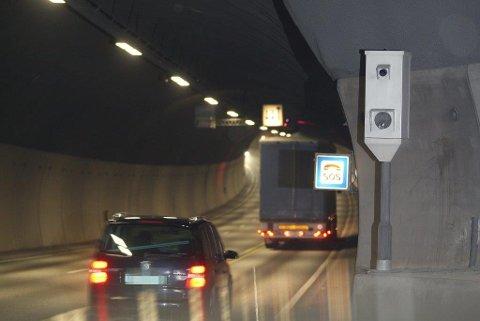 DYR TUNNELTUR: Bilføreren fra Sverige overholdt ikke fartsgrensen i Oslofjordtunnelen. Det koster ham 15.680 kroner.
