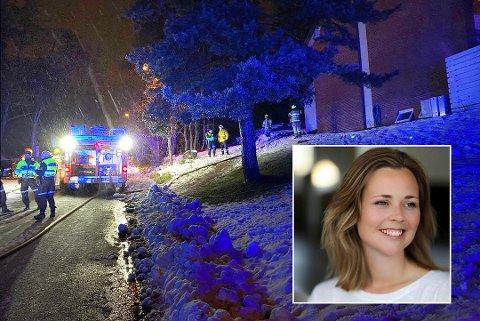 VIL HJELPE: Trine Lunde Marthinsen (innfelt) opprettet en spleis da hun fikk vite at en kollega var hardt rammet av boligbrann i romjula.