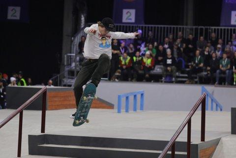 Hermann Stene under X Games-kvalifiseringen. Torsdag kveld kjemper han om plass i den store finalen.