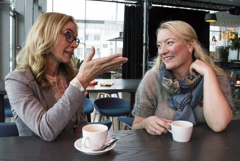 Ønsker å engasjere: Birgitte Gulla Løken i Høyre og Guro Kohlberg Lomme i Ap ønsker at flere kvinner engasjerer seg i samfunnet og debatten.