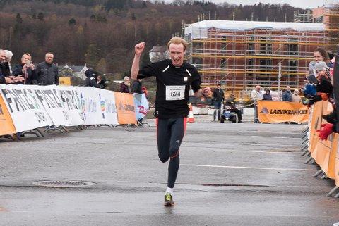 Vinneren: Håkon Skarsholt fra Andebu ble årets vinner av Larviksløpet 2016