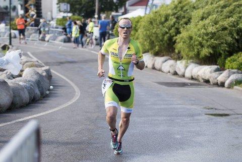 Vinner: Per Morten Ellingsen vant herrenes triatlon lørdag og sikret med det sin første seier i Kon Tri.