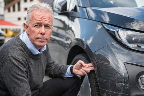 BULKET: Gjensidiges Arne Voll forteller at svært mange opplever at bilen deres blir skadet av andre.