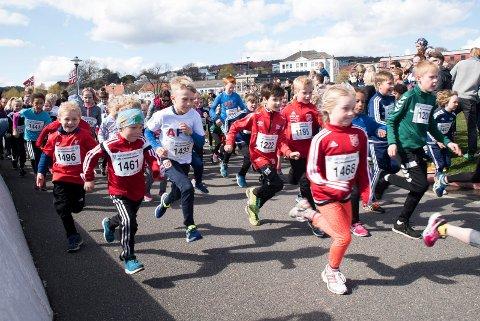 MANGE LØPERE: Larviksløpet har i mange år vært Larviks største løp.