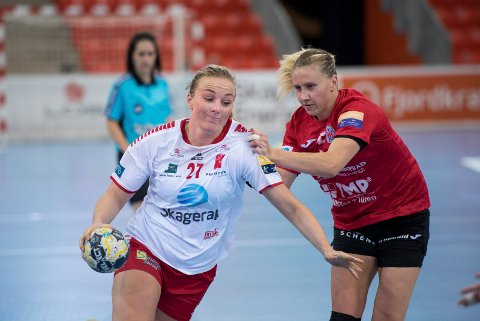 NY SJANSE: Emilie Christensen og Larvik Håndballklubb er med i det gjeve selskap også til høsten.