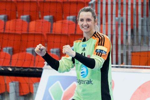 Til OL?: Larvik-keeper Alma Hasanic Grizovic er ønsket landslaget til Montenegro, og selv ønsker hun gjerne å spille i Tokyo neste sommer.