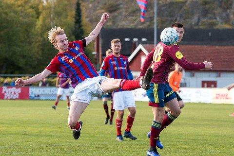 UNGT LAG: 20 år gamle Arnar Gudjonsson har vært en vitkig spiller for Fram gjennom 2019-sesongen. Han var ikke den eneste sentrale spilleren under 21 år.