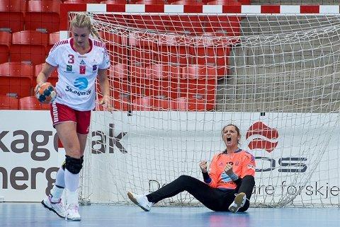 Alma Grizovic ble fryktelig viktig i seieren mot Rælingen, og ble kåret til banens beste i Marikollhallen.