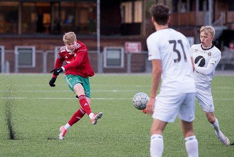 Alexander Rønning-Olsen og Halsen tapte fortjent 0-2 mot Frigg i Oslo lørdag ettermiddag.