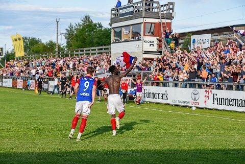 Mame Ndiaye scoret to da Fram vant 3-1 mot Bærum i cupen 26. juni.