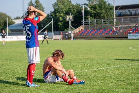 Blytungt: Marius Jacobsen (t.v.) Mats Skårdal og resten av Fram gikk på en ny smell på lørdag og tapte 2-4 for Levanger.
