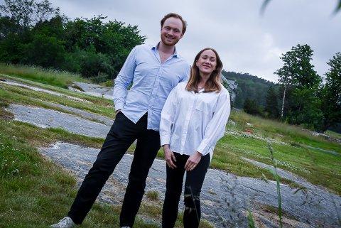STORE PLANER: Lulla og Fritz Theodor Treschow Hokholt i FALS har holdt kortene tett til brystet i snart ett år.