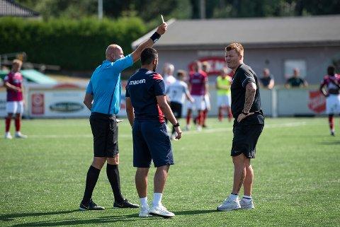 ORDKRIG: Norges Fotballforbund har ikke fått inn noen klage etter kampen mellom Flint Fotball og Fram Larvik.