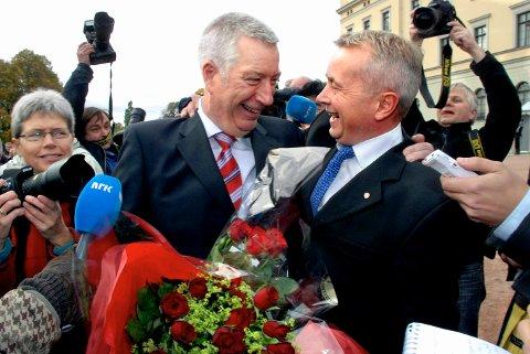 AP-VENNER: Sigbjørn Johnsen og Knut Storberget har sittet i samme regjering. Nå vil begge bli fylkesmann for Innlandet fra 2019.