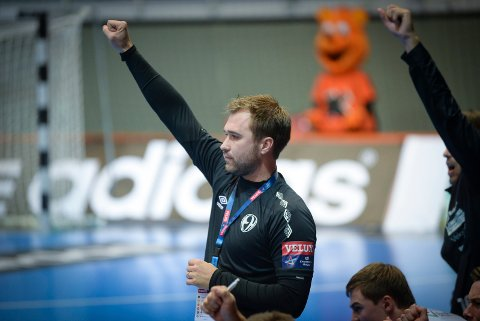 STERK SEIER: Michael Apelgren og Elverum fortsetter å imponere i Frankrike. Lørdag ble Chambery slått. Nå venter Montpellier i finalen.