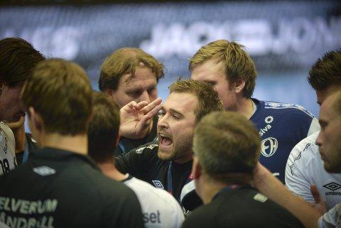 GODE MINNER: Michael Apelgren og Elverum Håndball har gode minner fra BBC Arena i Sveits. Det var her laget tok sine to første Champions League-poeng. Foto: Jan Morten Frengstad