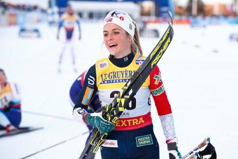 Ruka, Finland 20181125. Therese Johaug i sitt første verdenscuprenn etter utestengelsen. Foto: Terje Pedersen / NTB scanpix