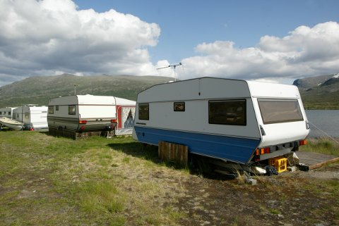 Bessheim  20040716 Campingplass på fjellet. Foto: Terje Bendiksby / SCANPIX