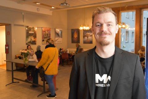 SLITEN, MEN PÅ EN SKY: Festivalsjef Øystein Egge har levert et festivalprogram som publikum ville ha, 50 prosent flere kom i år, sammenliknet med i fjor.