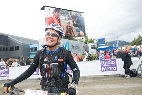 MERKE NUMMER 75: I Birkensammenheng tok Åslia-syklisten Ragnhild Bolstad sitt 75. merke med klasseseier på lørdagens Birkebeinerritt.