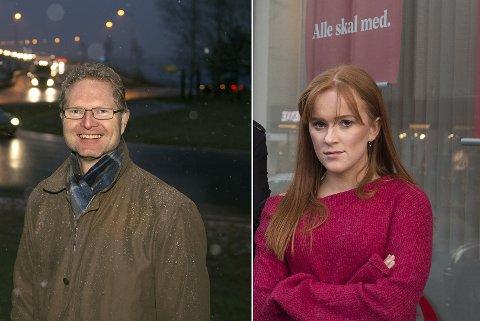 UENIGE: Tor André Johnsen (Frp) og Ingrid Tønseth Myhr (Ap) er uenige.