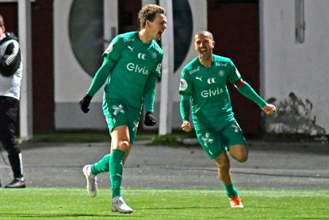 KANONSTRT: Jonas Enkerud scoret da HamKam valset over Stjørdal/Blink 3-0 lørdag. Bildet er fra en kamp i fjor.