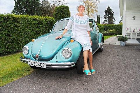 Anne Marit Sletbakken har en utrolig kul folkevognboble, og sannsynligvis blir den å se når automobilklubben møtes i Rosahaugparken.