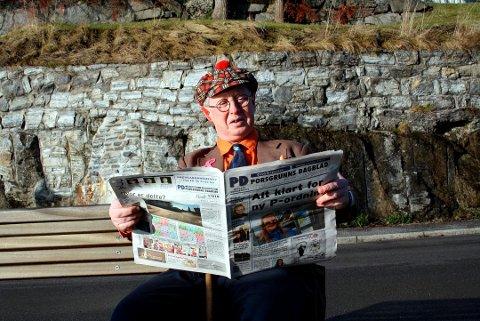 Revyskikkelsen Pilten som er Per Henrik Rydning fra Brevik, fyller 60 år onsdag 5. september. Opplading til bursdagen har foregått på golfbanen i Irland sammen med sønnen Martin, og derfor har lokalavisa ikke noe rykende ferskt bilde av jubilanten i sivil.