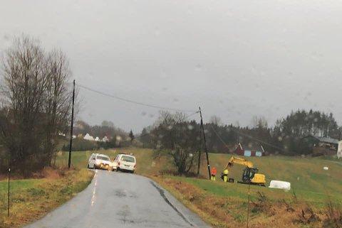 Gult farenivå: Meteorologene har sendt ut gult farevarsel for de kommende timene. Det kan medføre nye strømbrudd. Arkivfoto