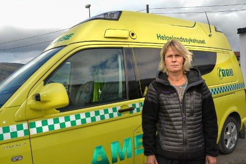 - Det er rett og slett ikke akseptabelt å ikke ha en ambulanse på plass, sier ordfører i Nesna, Marit Bye.