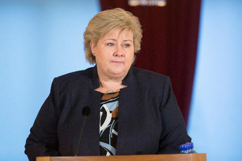 BESØK: Statsminister Erna Solberg besøker Mo i Rana fra søndag kveld til mandag formiddag. Foto: Terje Bendiksby / NTB scanpix