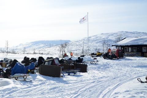 Vinter: Hytteforeninga for Mogressfjellet er positive til nye løyper, men de forstår også reineierne. Foto: Klaus Solbakken