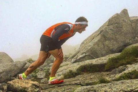 Rolf Einar Jensen håper å løpe opp og ned Oksskolten på rekordtid til sommeren. Foto: Privat